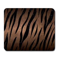 Skin3 Black Marble & Bronze Metal (r) Large Mousepad by trendistuff