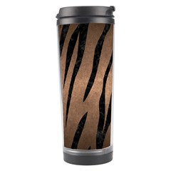 Skin3 Black Marble & Bronze Metal (r) Travel Tumbler by trendistuff