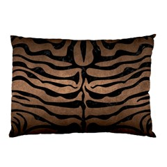 Skin2 Black Marble & Bronze Metal (r) Pillow Case by trendistuff