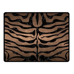 Skin2 Black Marble & Bronze Metal (r) Fleece Blanket (small) by trendistuff