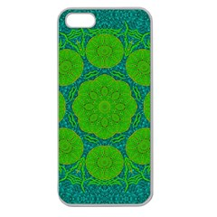 Summer And Festive Touch Of Peace And Fantasy Apple Seamless Iphone 5 Case (clear) by pepitasart