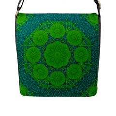 Summer And Festive Touch Of Peace And Fantasy Flap Messenger Bag (l)  by pepitasart