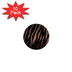 Skin2 Black Marble & Bronze Metal 1  Mini Magnet (10 Pack)  by trendistuff