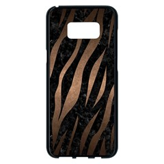 Skin2 Black Marble & Bronze Metal Samsung Galaxy S8 Plus Black Seamless Case