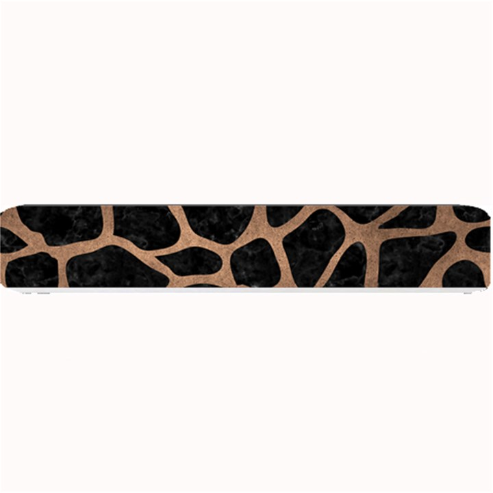 SKIN1 BLACK MARBLE & BRONZE METAL (R) Small Bar Mat