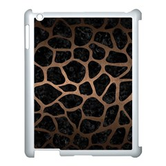Skin1 Black Marble & Bronze Metal (r) Apple Ipad 3/4 Case (white) by trendistuff