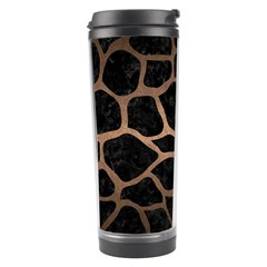 Skin1 Black Marble & Bronze Metal (r) Travel Tumbler by trendistuff