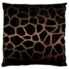 Skin1 Black Marble & Bronze Metal (r) Standard Flano Cushion Case (one Side) by trendistuff