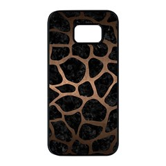 Skin1 Black Marble & Bronze Metal (r) Samsung Galaxy S7 Edge Black Seamless Case by trendistuff