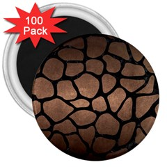 Skin1 Black Marble & Bronze Metal 3  Magnet (100 Pack) by trendistuff