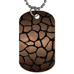 Skin1 Black Marble & Bronze Metal Dog Tag (two Sides) by trendistuff