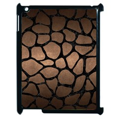 Skin1 Black Marble & Bronze Metal Apple Ipad 2 Case (black) by trendistuff