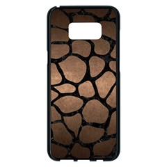 Skin1 Black Marble & Bronze Metal Samsung Galaxy S8 Plus Black Seamless Case