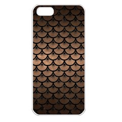 Scales3 Black Marble & Bronze Metal (r) Apple Iphone 5 Seamless Case (white) by trendistuff