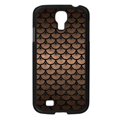 Scales3 Black Marble & Bronze Metal (r) Samsung Galaxy S4 I9500/ I9505 Case (black) by trendistuff