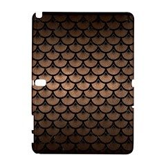 Scales3 Black Marble & Bronze Metal (r) Samsung Galaxy Note 10 1 (p600) Hardshell Case by trendistuff