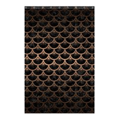 Scales3 Black Marble & Bronze Metal Shower Curtain 48  X 72  (small) by trendistuff