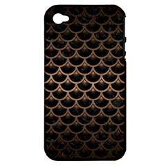 Scales3 Black Marble & Bronze Metal Apple Iphone 4/4s Hardshell Case (pc+silicone) by trendistuff