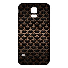 Scales3 Black Marble & Bronze Metal Samsung Galaxy S5 Back Case (white) by trendistuff