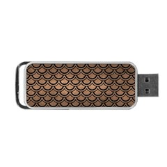 Scales2 Black Marble & Bronze Metal (r) Portable Usb Flash (one Side) by trendistuff