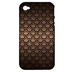Scales2 Black Marble & Bronze Metal (r) Apple Iphone 4/4s Hardshell Case (pc+silicone) by trendistuff