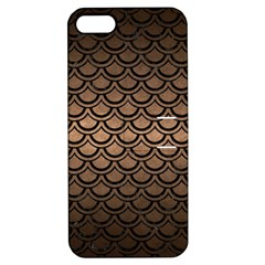 Scales2 Black Marble & Bronze Metal (r) Apple Iphone 5 Hardshell Case With Stand by trendistuff