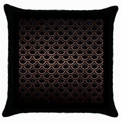 Scales2 Black Marble & Bronze Metal Throw Pillow Case (black) by trendistuff