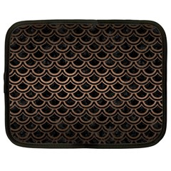 Scales2 Black Marble & Bronze Metal Netbook Case (xxl) by trendistuff