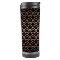 Scales2 Black Marble & Bronze Metal Travel Tumbler by trendistuff