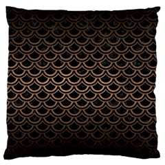 Scales2 Black Marble & Bronze Metal Standard Flano Cushion Case (two Sides) by trendistuff