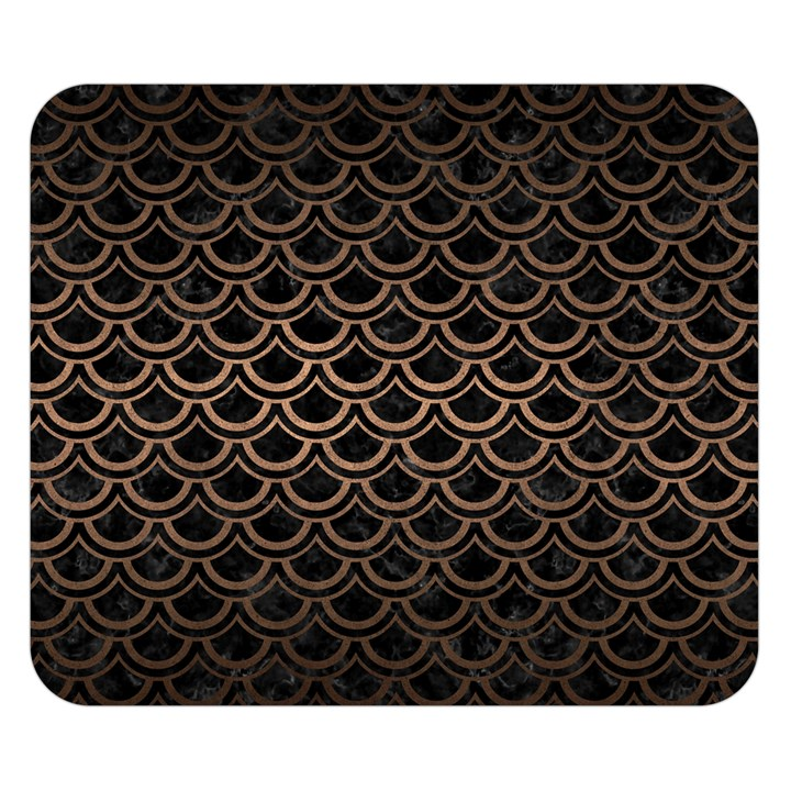SCALES2 BLACK MARBLE & BRONZE METAL Double Sided Flano Blanket (Small)