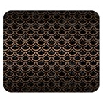 SCALES2 BLACK MARBLE & BRONZE METAL Double Sided Flano Blanket (Small) 50 x40 Blanket Back
