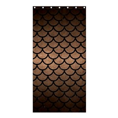 Scales1 Black Marble & Bronze Metal (r) Shower Curtain 36  X 72  (stall) by trendistuff