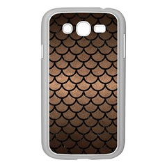 Scales1 Black Marble & Bronze Metal (r) Samsung Galaxy Grand Duos I9082 Case (white) by trendistuff