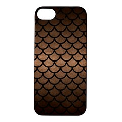 Scales1 Black Marble & Bronze Metal (r) Apple Iphone 5s/ Se Hardshell Case