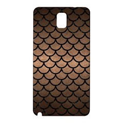Scales1 Black Marble & Bronze Metal (r) Samsung Galaxy Note 3 N9005 Hardshell Back Case by trendistuff
