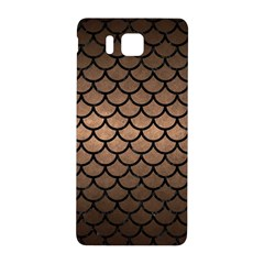 Scales1 Black Marble & Bronze Metal (r) Samsung Galaxy Alpha Hardshell Back Case by trendistuff