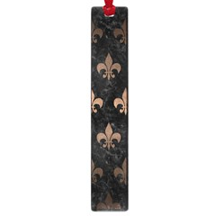 Royal1 Black Marble & Bronze Metal (r) Large Book Mark by trendistuff
