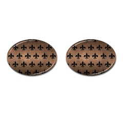 Royal1 Black Marble & Bronze Metal Cufflinks (oval) by trendistuff