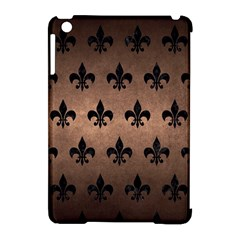 Royal1 Black Marble & Bronze Metal Apple Ipad Mini Hardshell Case (compatible With Smart Cover) by trendistuff