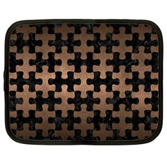 Puzzle1 Black Marble & Bronze Metal Netbook Case (xl) by trendistuff