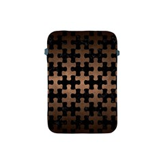 Puzzle1 Black Marble & Bronze Metal Apple Ipad Mini Protective Soft Case by trendistuff
