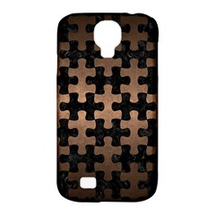 Puzzle1 Black Marble & Bronze Metal Samsung Galaxy S4 Classic Hardshell Case (pc+silicone) by trendistuff