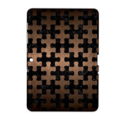 Puzzle1 Black Marble & Bronze Metal Samsung Galaxy Tab 2 (10 1 ) P5100 Hardshell Case  by trendistuff