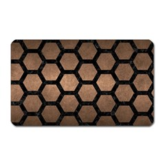 Hexagon2 Black Marble & Bronze Metal (r) Magnet (rectangular) by trendistuff