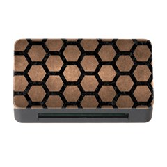 Hexagon2 Black Marble & Bronze Metal (r) Memory Card Reader With Cf by trendistuff