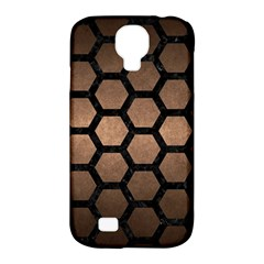 Hexagon2 Black Marble & Bronze Metal (r) Samsung Galaxy S4 Classic Hardshell Case (pc+silicone) by trendistuff