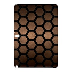 Hexagon2 Black Marble & Bronze Metal (r) Samsung Galaxy Tab Pro 10 1 Hardshell Case by trendistuff