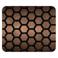 Hexagon2 Black Marble & Bronze Metal (r) Double Sided Flano Blanket (small) by trendistuff