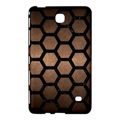Hexagon2 Black Marble & Bronze Metal (r) Samsung Galaxy Tab 4 (7 ) Hardshell Case  by trendistuff